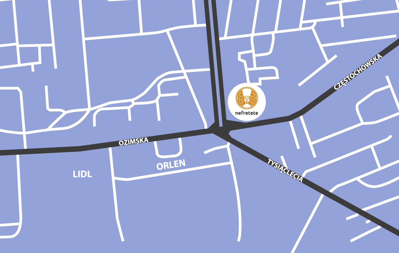 Nefretete Opole mapa dojazdu